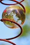 glass ball, mirroring
