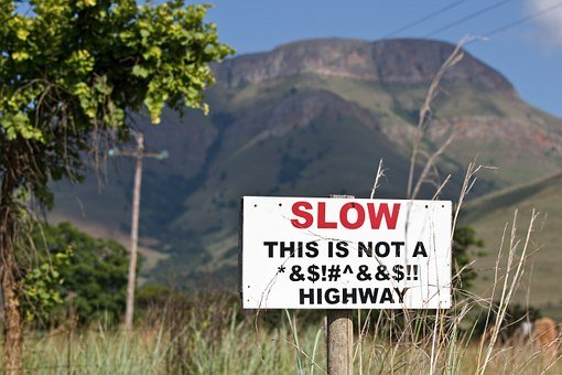 Slow Safe Stress Sign Traffic Road Warning