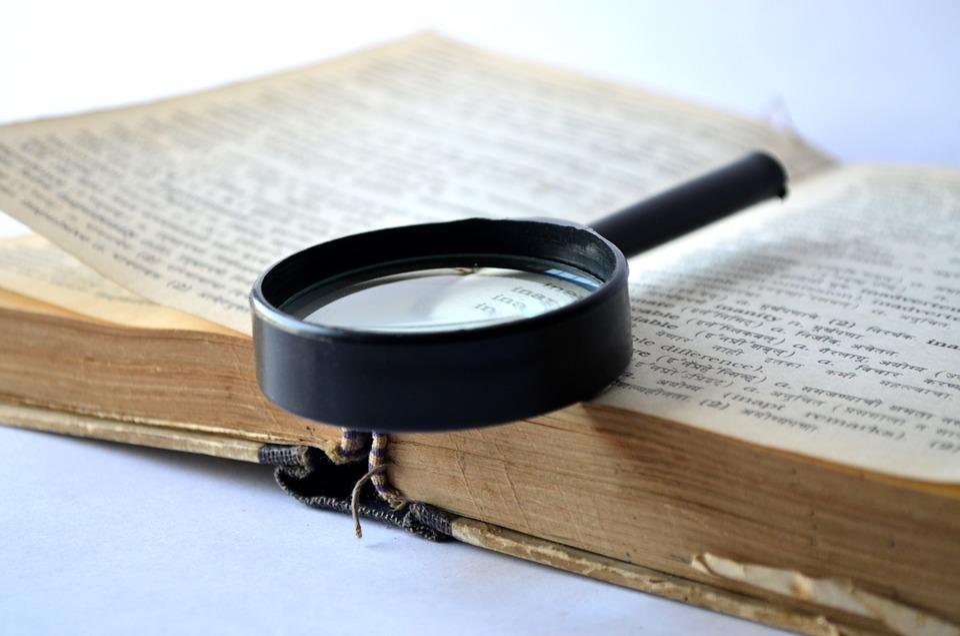 拡大鏡, 虫眼鏡, ルーペ, 本, 辞書, ルックアップ, 検索, 読書, 学習