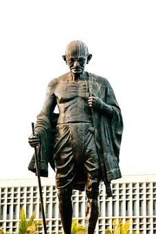 Mahatma Gandhi Statue Bronze India Indian