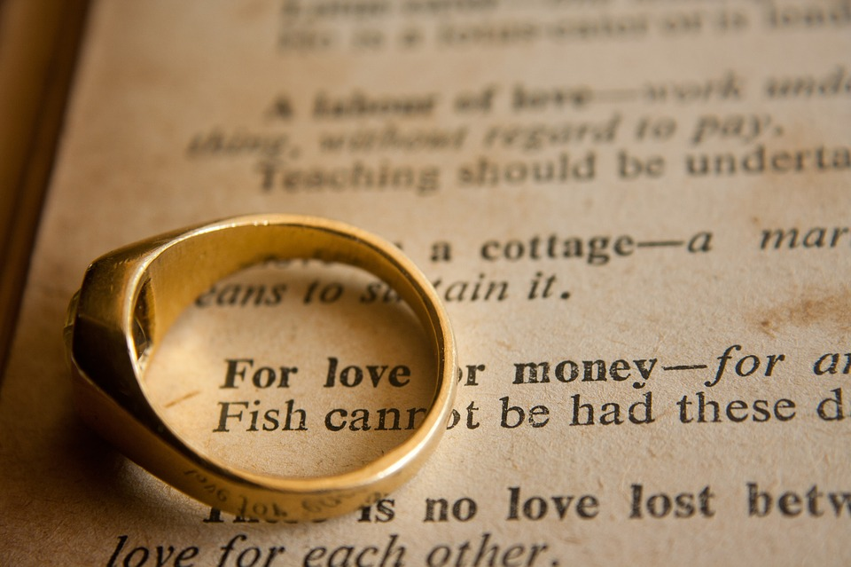 Vigselring, Bröllop, Kärlek Eller Pengar, Fras