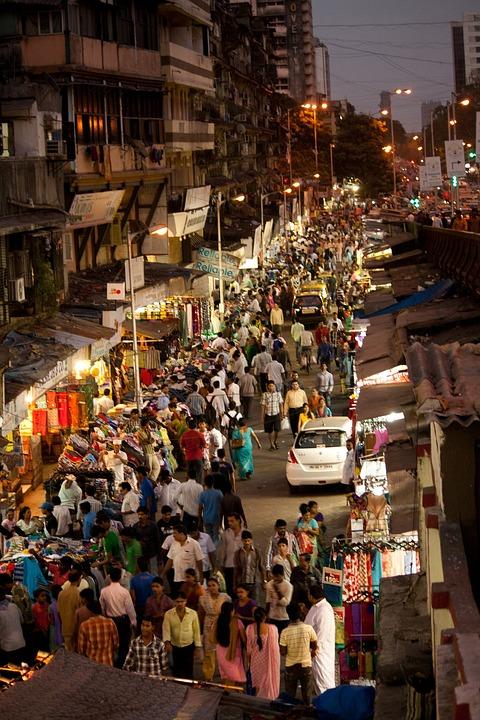 Free Photo Crowded Street Mumbai Bombay Free Image