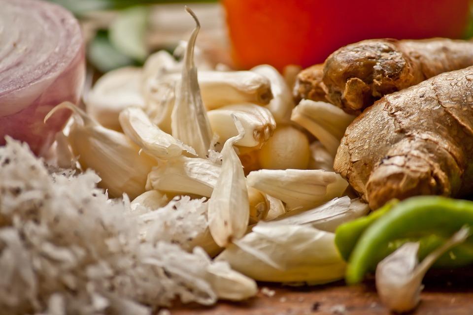 Garlic, Ginger, Herbs, Cooking, Ingredients, Fresh