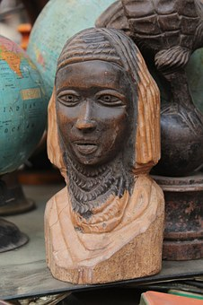Statue, African, Tribal, Wood, Carving