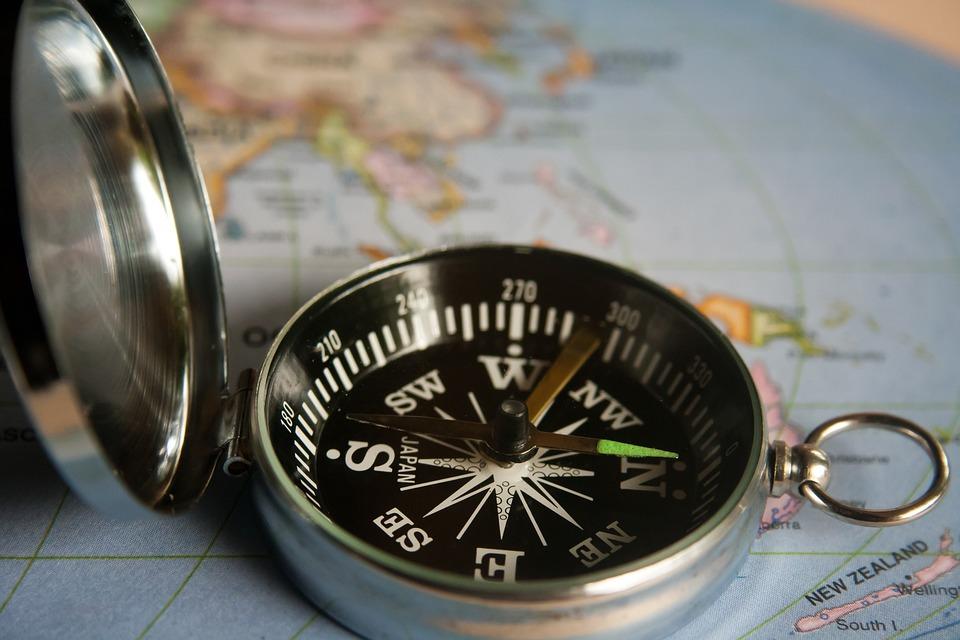 Compas Magnétique, Navigation, Direction, Boussole