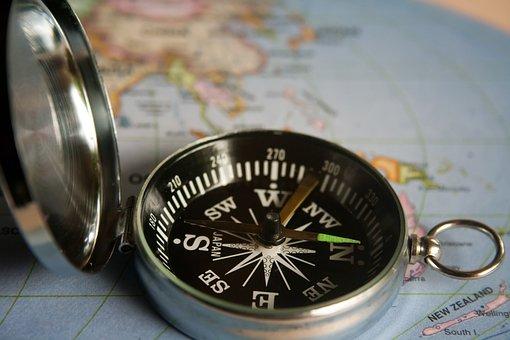 Magnetkompass Navigation Richtung Kompass