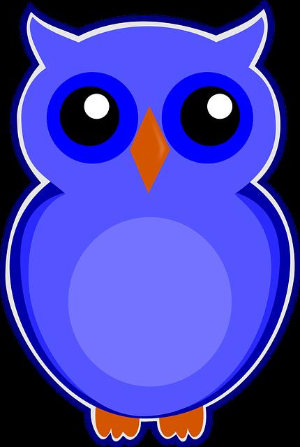 owl blue bird  u00b7 free image on pixabay Black Owl Vector Art Owl Tattoo Vector
