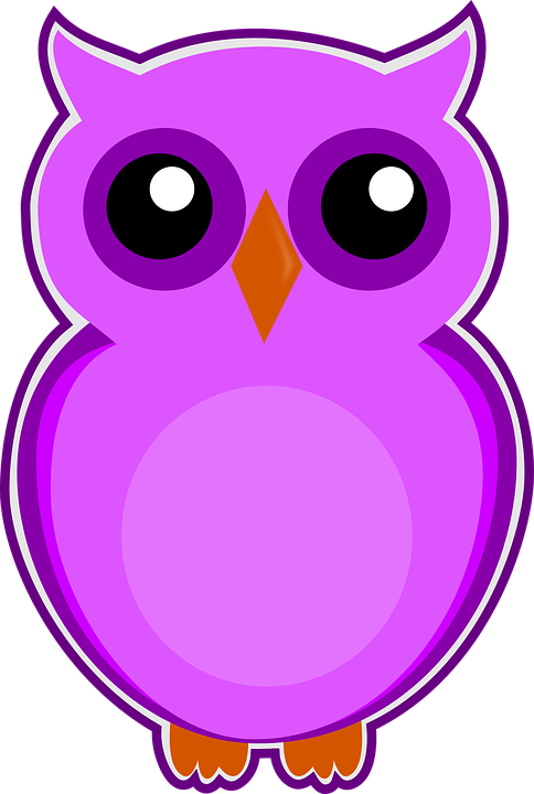 free illustration owl  purple  bird  cute  animal free owl clipart with other animal friends owl clipart border