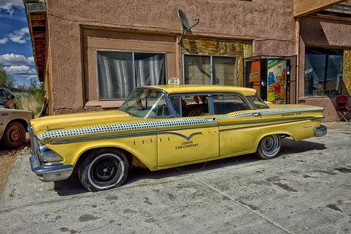 Edsel Ranger, Taxi Cab, Classic Car, Car