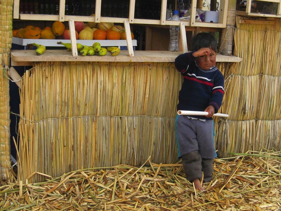 Peru Boy Hut Free Photo On Pixabay