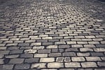 cobblestones, road, paving stones