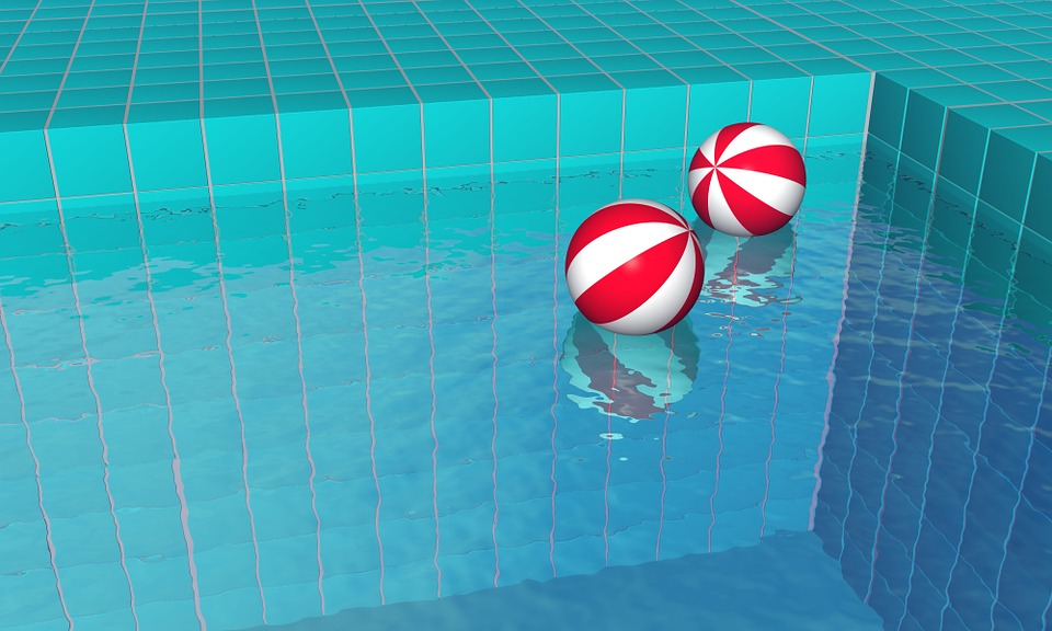 Pool Water With Beach Ball free illustration: swimming pool, water, beach balls - free image