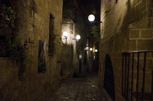 Jaffa, Night, Israel, Architecture