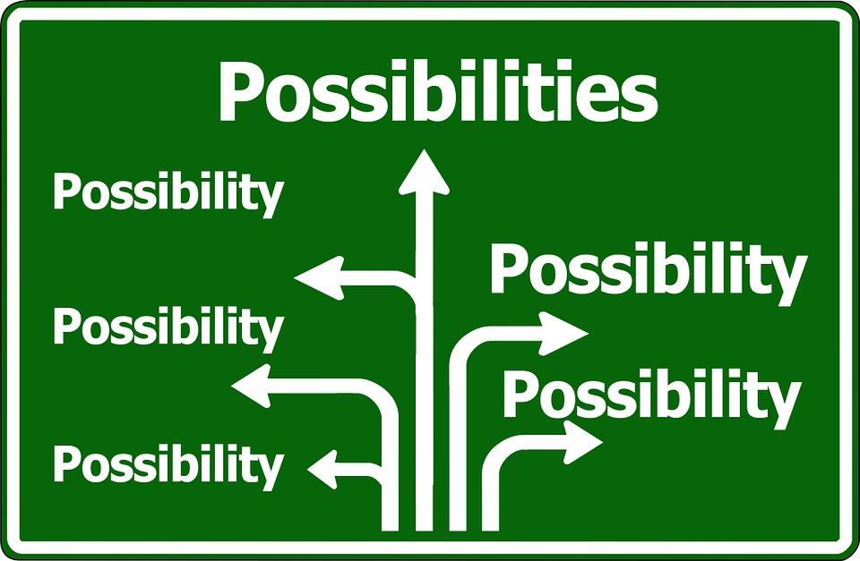 Möglichkeit, Wegweiser, Option, Viele, Auswahl, Chance