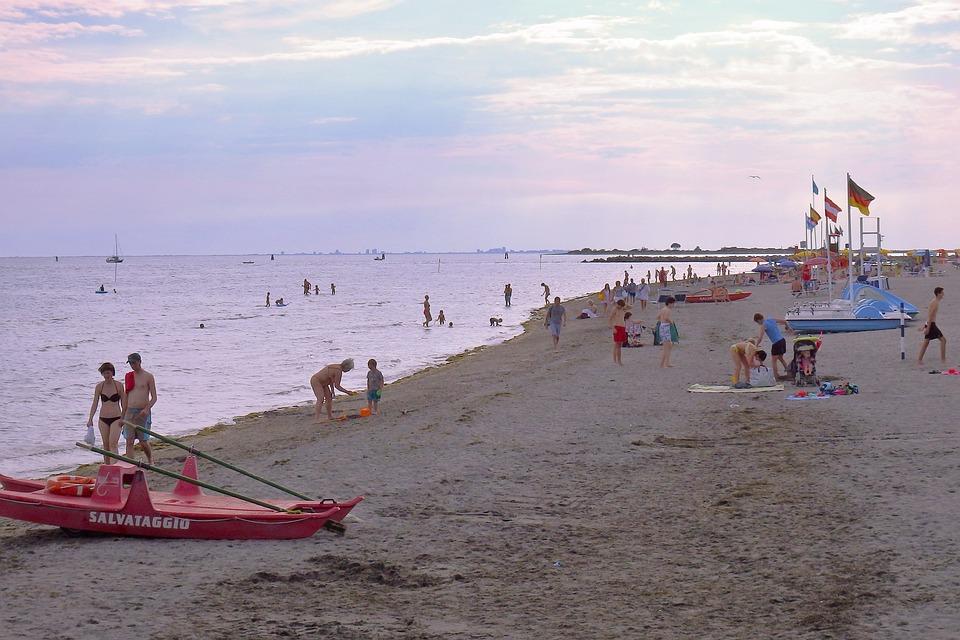 Italia, Grado, Beach, Mare, Panorama, Laguna, Viaggio