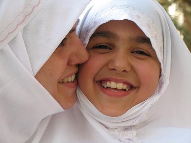 Mother, Daughter, Girl, Muslims, Women, Muslim Girl