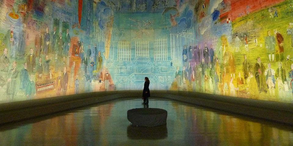 博物館, アート, 壁画, オルセーアート近代, パレ·ド·トーキョー, パリ, 絵画, フランス, 現代美術