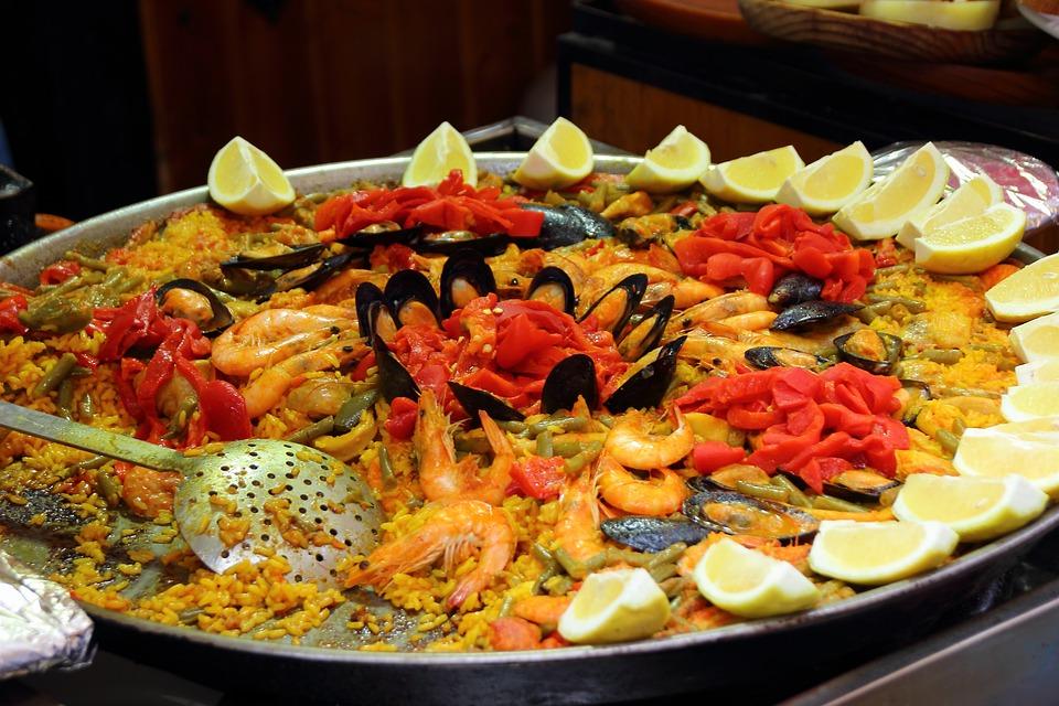Paella, Arroz, Langostinos, Limones, España