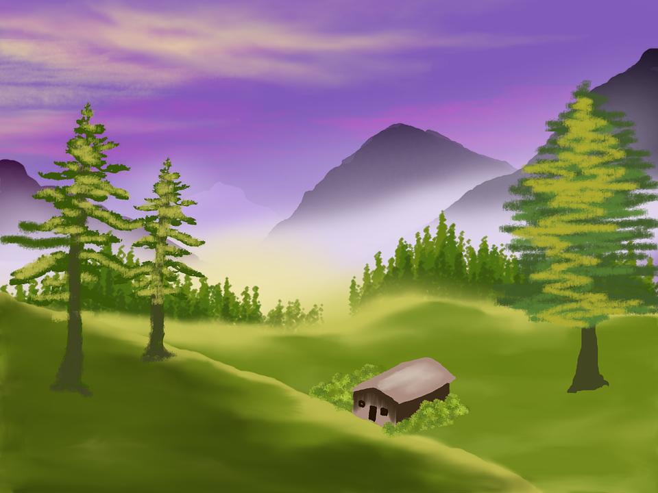 Free Illustration Digital Art Painting Landscape Free