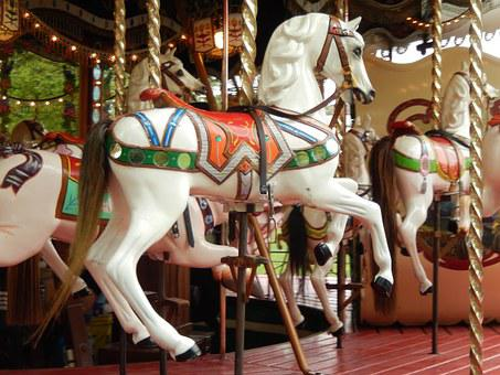 Manege, Wooden Horse, Carousel