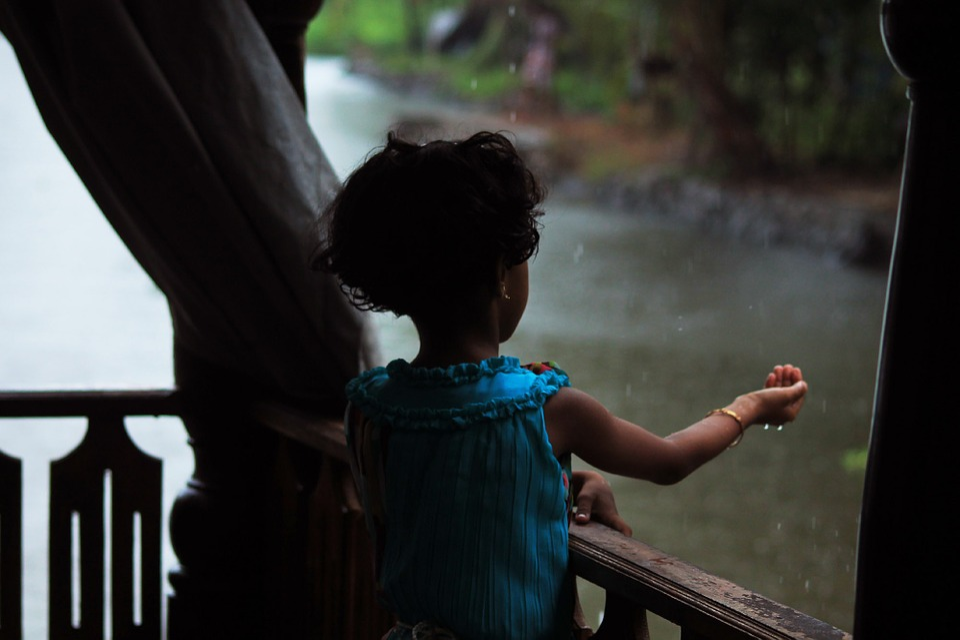 Free photo: Rain, Hand, Feel, Kid, Water, Child - Free Image on ...