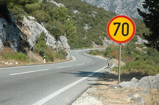 方法, 登山, リミット, 看板, 高速道路, アスファルト, ホット