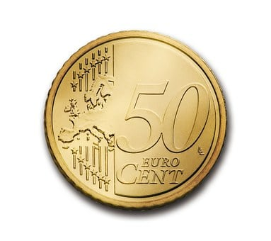 Cent, 50, Euro, Coin, Currency, Europe