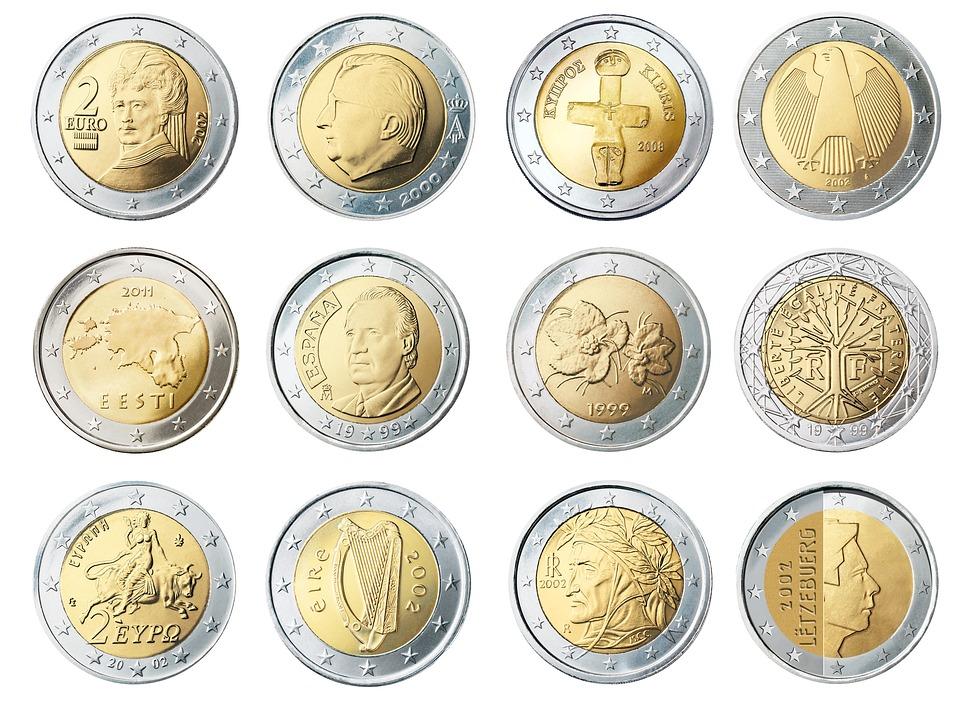 Munten, Munteenheid, Euro, Geld, Rijkdom, Financiering