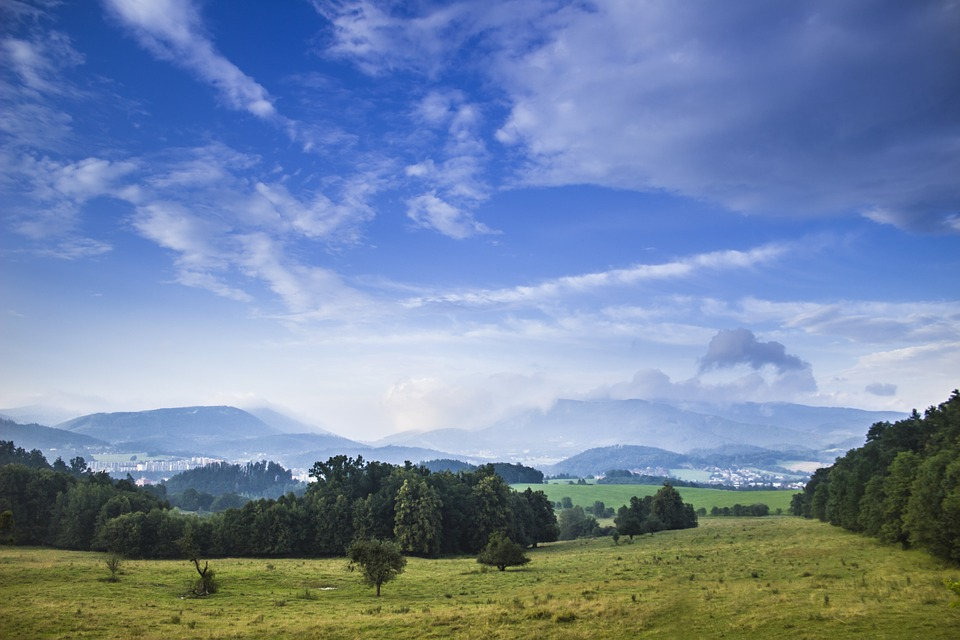 blue sky landscape meadow mountains beskydy nature - Blue Sky Landscape Meadow · Free Photo On Pixabay