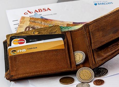 Wallet, Credit Card, Cash, Money