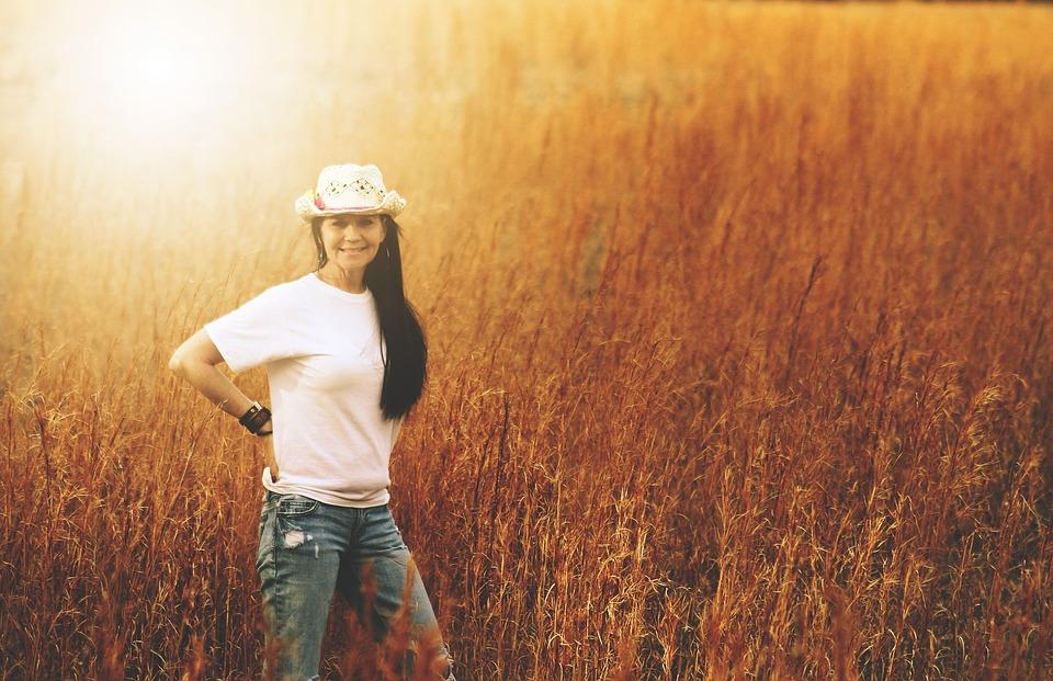 Free Photo Girl Woman Hay Field Happy Free Image On