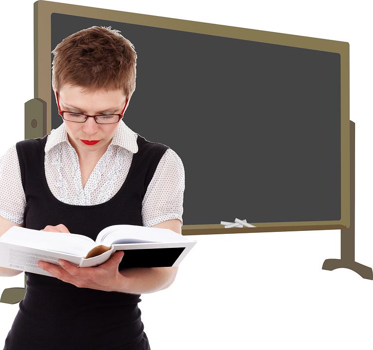 老师, 课堂, 学校, 类, 教, 女子, 研究, 黑板