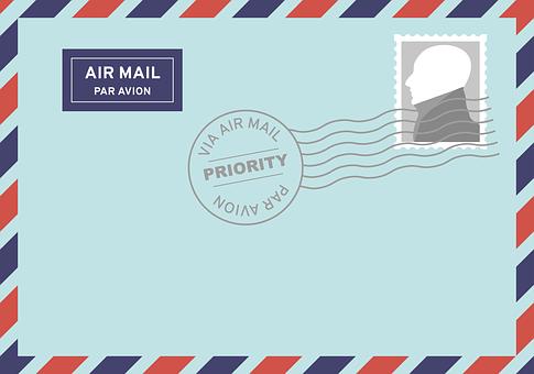 Post, Correio Aéreo, Cartas