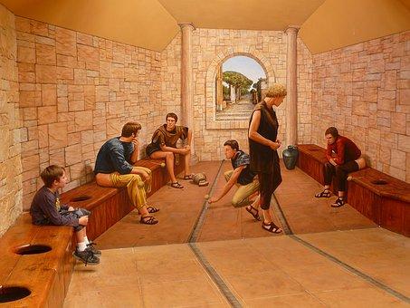 Toilet, Roman, Public, Sitting, History