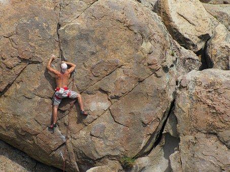ロック クライミング, リードクライミング, 冒険, 垂直, チャレンジ, 困難