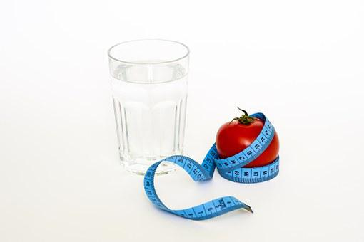 Tape Tomato Glas Diet Water Drinking Healt