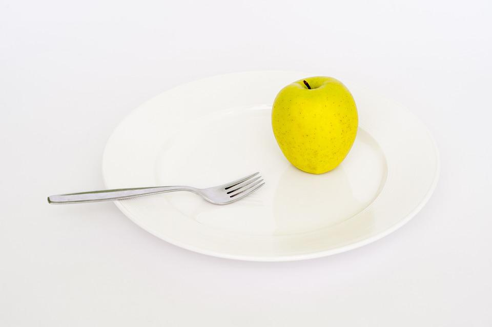 Plate, Apple, Fork, Diet, Health, Weight, Healthy, Loss