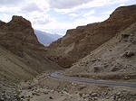 mountains, road