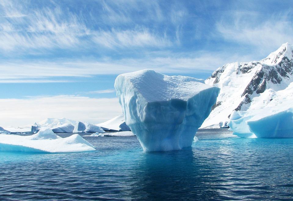 Eisberg, Antarktis, Polaren, Blau, Eis, Meer