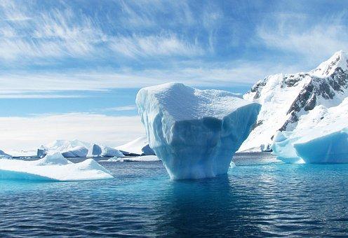 Iceberg, L'Antarctique, Polaires, Bleu