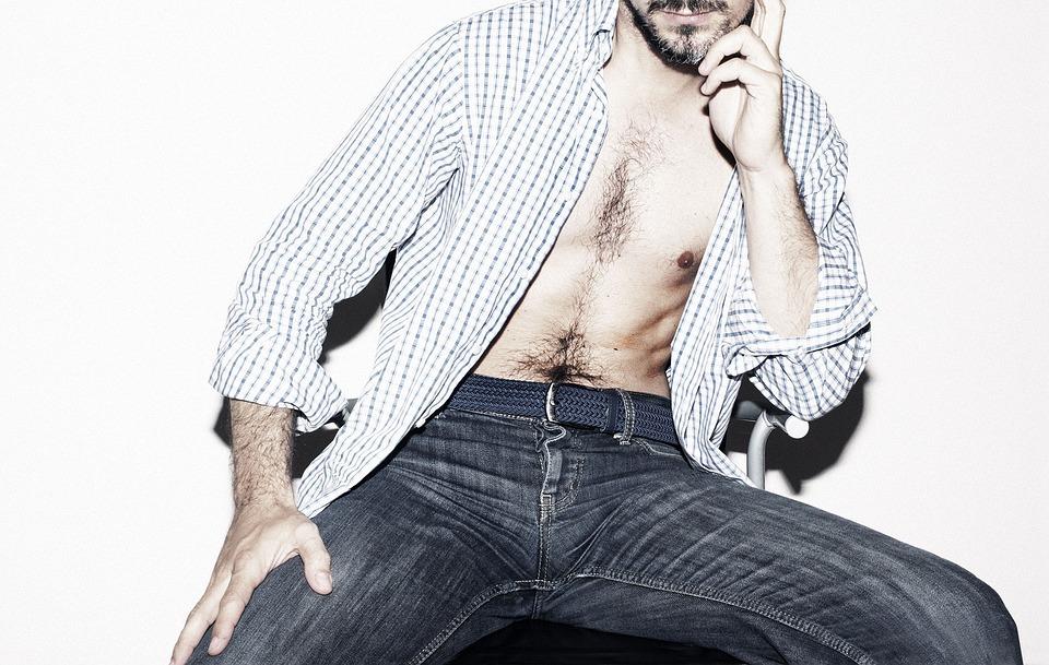 Moda, Hombre, Pantalones Vaqueros, Sexy, Masculino