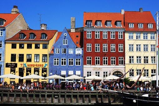 Kopenhagen, Kobenhavn, Landschap, Huizen