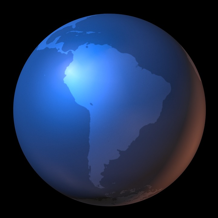 South america map of the world free image on pixabay south america map of the world map globe continents gumiabroncs Gallery