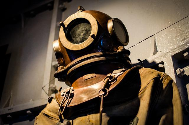 Old Fashioned Diving Suit Tattoo