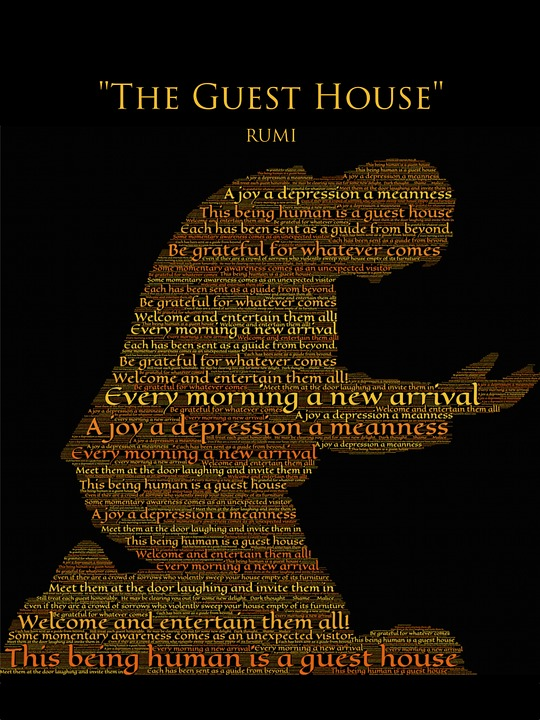 free illustration rumi the guest house gratitude free