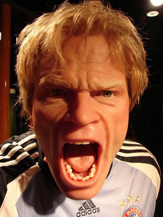 オリバー·カーン, 男, 人間, サッカー, 蝋人形, 実, レイジ, 怒っています, 悲鳴を上げる