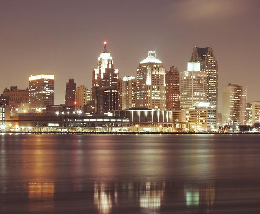 Detroit City Night 183 Free Photo On Pixabay