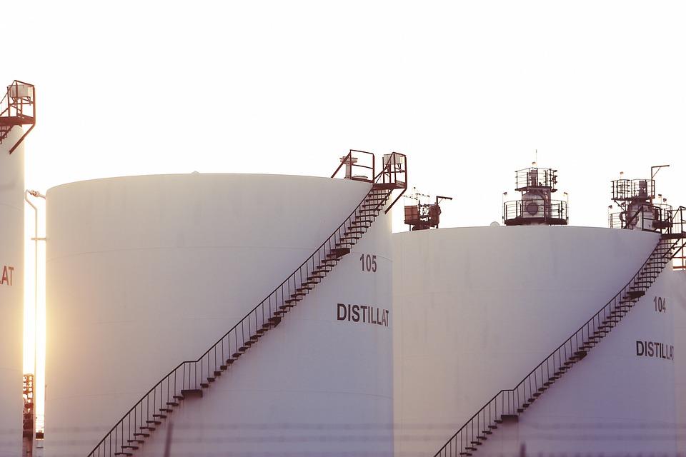 タンク, 石油化学, サイロ, コンテナー, 産業, 工場, 業界, ホワイト, ラウンド, 背の高い, 蒸留