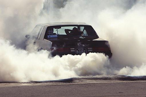 Wheely, Smoke, Car, Power, Aggressive