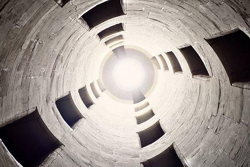 Silo, Light, Tall, Round, Concrete
